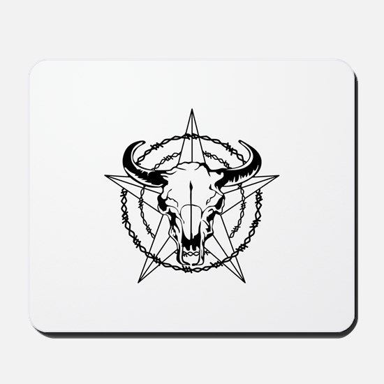 WESTERN STEER SKULL Mousepad