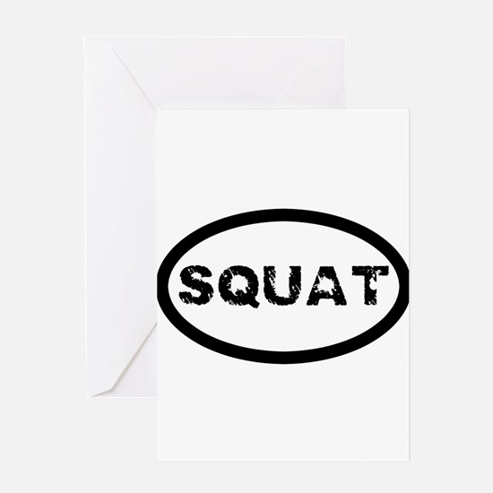 Squat Greeting Cards