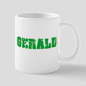 Gerald Name Weathered Green Design Mugs