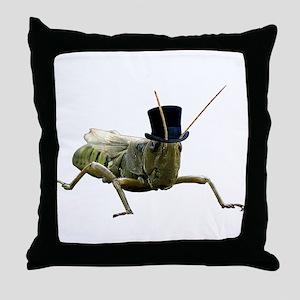 JiminyGrasshopper Throw Pillow