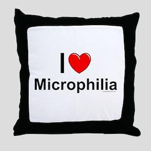 Microphilia Throw Pillow