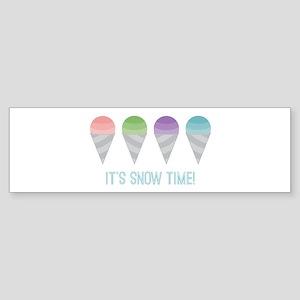 Snow Time Bumper Sticker