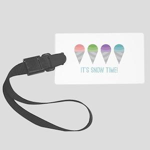 Snow Time Luggage Tag