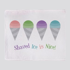 Shaved Ice Throw Blanket