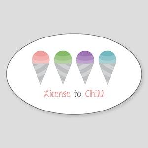License To Chill Sticker