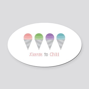 License To Chill Oval Car Magnet