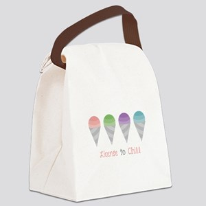 License To Chill Canvas Lunch Bag
