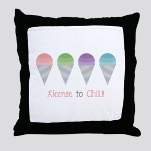 License To Chill Throw Pillow