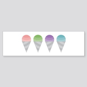 Sno Cones Bumper Sticker
