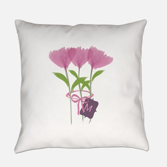 Cool Bright Monogram Everyday Pillow