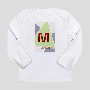 Cool Bright Monogram Long Sleeve Infant T-Shirt