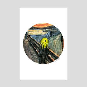 Smiley Scream Mini Poster Print