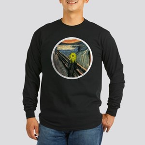 Smiley Scream Long Sleeve Dark T-Shirt