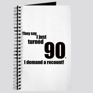 They say I just turned 90... Journal