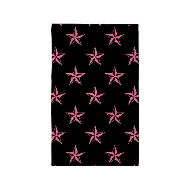 Star Pattern Pink Area Rug By Evilinpink