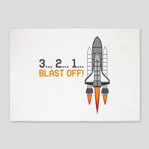 Blast Off 5'x7'Area Rug