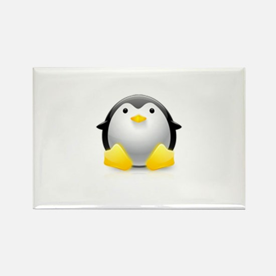 LINUX LOGO TUX PENGUIN Rectangle Magnet
