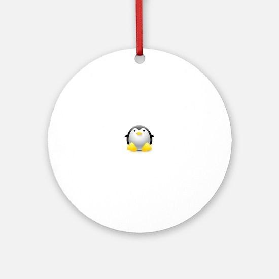 LINUX LOGO TUX PENGUIN Ornament (Round)