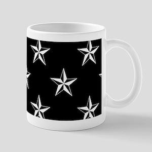 Star Pattern Black Mug