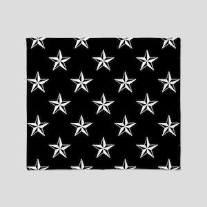 Star Pattern Black Throw Blanket