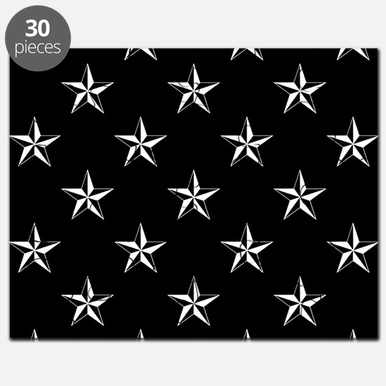 Star Pattern Black Puzzle
