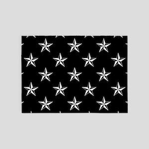 Star Pattern Black 5'x7'Area Rug