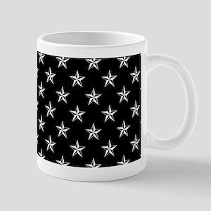 Small Star Pattern Black Mug