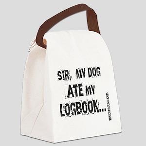 Sir, my dog ate my logbook. BLK LETT Canvas Lu