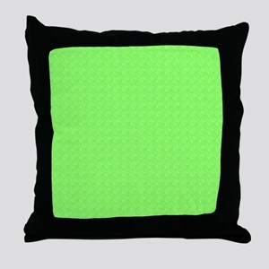 Plain lime Green Throw Pillow