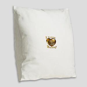 I Love Becky Burlap Throw Pillow