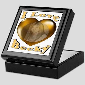 I Love Becky Keepsake Box