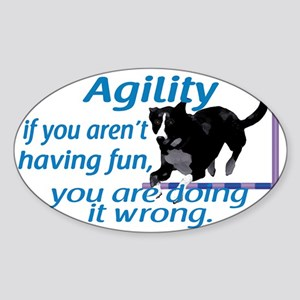 Agility Having Fun Sticker