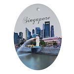 Singapore Oval Ornament