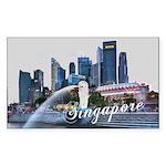 Singapore Sticker (Rectangle 50 pk)