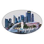 Singapore Sticker (Oval 50 pk)