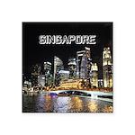 "Singapore Square Sticker 3"" x 3"""