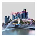 "Singapore Square Car Magnet 3"" x 3"""