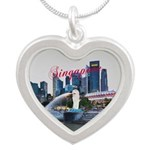 Singapore Silver Heart Necklace