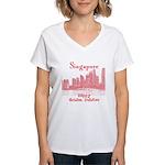 Singapore Women's V-Neck T-Shirt