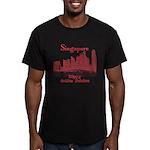Singapore Men's Fitted T-Shirt (dark)