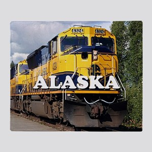 Alaska Railroad Throw Blanket