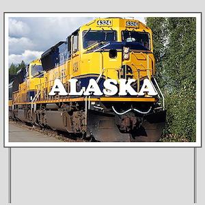 Alaska Railroad Yard Sign