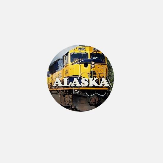Alaska Railroad Mini Button