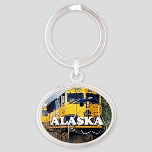 Alaska Railroad Oval Keychain