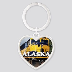 Alaska Railroad Heart Keychain