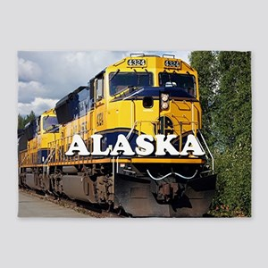 Alaska Railroad 5'x7'Area Rug