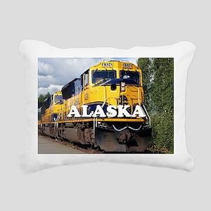 Alaska Railroad Rectangular Canvas Pillow