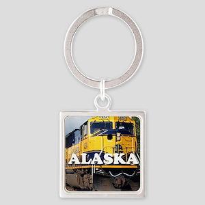 Alaska Railroad Square Keychain