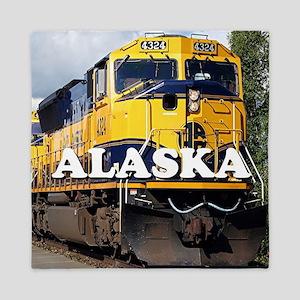 Alaska Railroad Queen Duvet