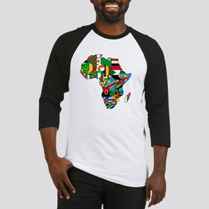 Flag Map of Africa Baseball Jersey